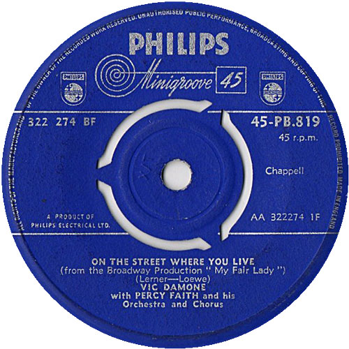 vic-damone-with-percy-faith-on-the-street-where-you-live-philips-45cat