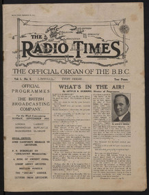 Radio Times Issue 1 (1923), cover